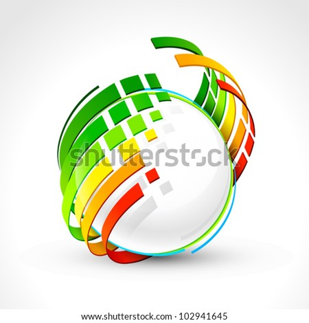 Abstract energy icon. Vector illustration - stock vector