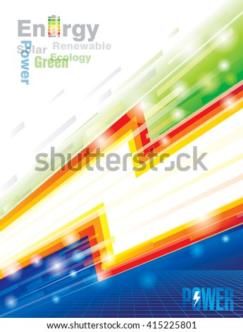 Abstract  energy power eco background. - stock vector