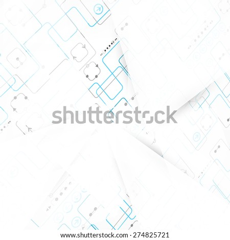 Abstract engineering technology background. Vector illustration