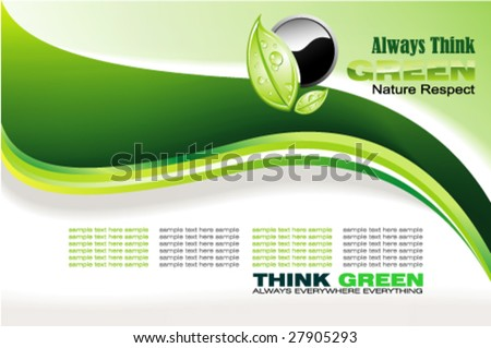 Abstract Environment Green and nature background - stock vector