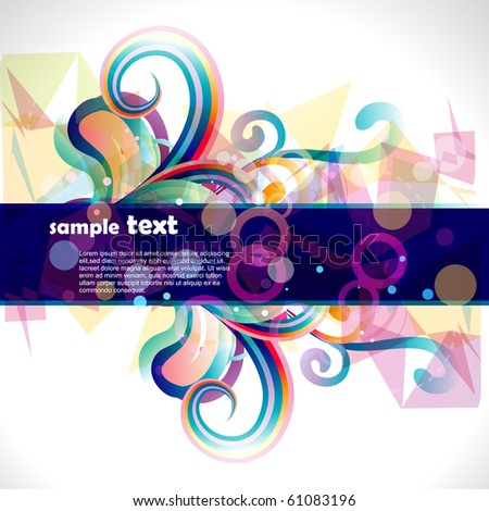 abstract eps10 vector stylish design illustration