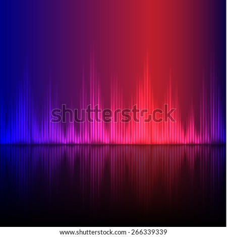 Abstract equalizer background. Blue-Purple wave. EPS10 vector. - stock vector