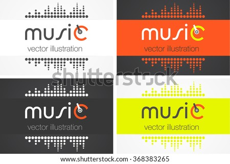 Abstract Equalizer Icon. Music / Sound Wave / DJ / Audio System Store Logo Sign Concept. Vector Illustration. - stock vector