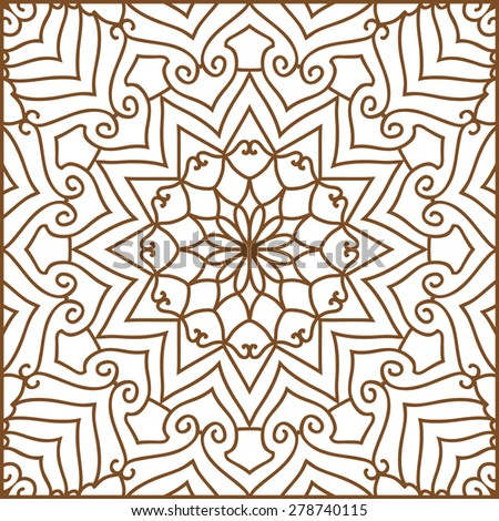 Abstract Ethnic Ornate Background For Design