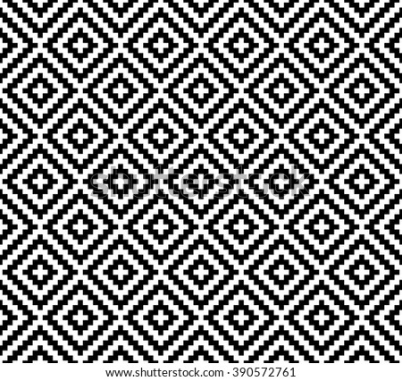 abstract ethnic pattern background with black and white.native pattern