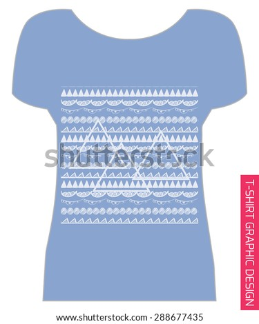 Abstract ethnic pattern. For t-shirt or other uses. Vector illustration.