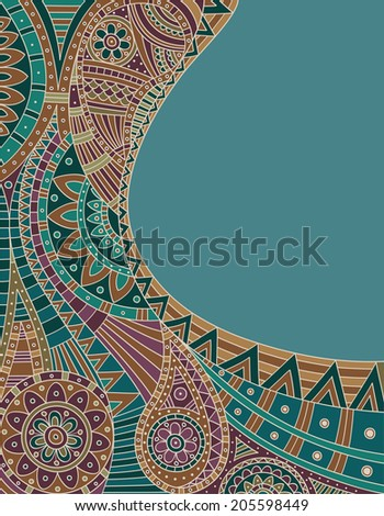 Abstract ethnic pattern. Vector illustration. Eps10. - stock vector