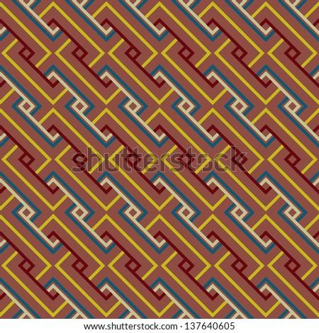 Abstract Ethnic Seamless Geometric Pattern. Vector Illustration - stock vector