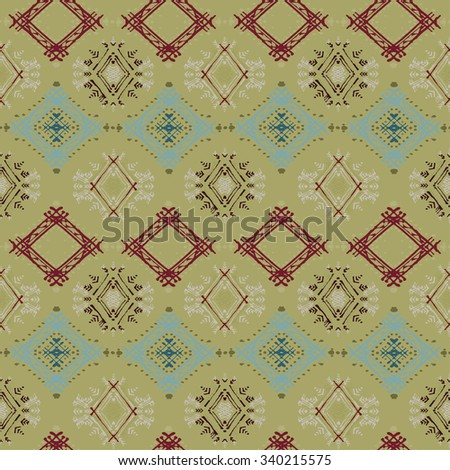 Abstract ethnic seamless pattern. Tribal art print. Background texture, wallpaper, wrapping