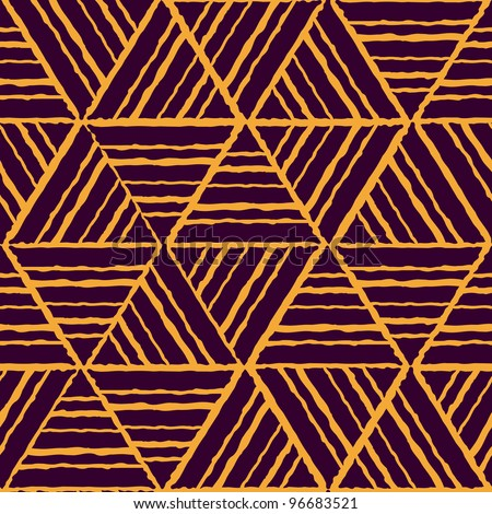 abstract ethnic seamless yellow geometric pattern. Colorful vector illustration - stock vector