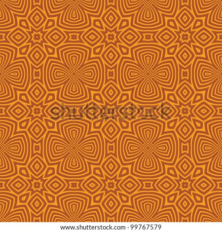 abstract ethnic vector seamless background. Colorful vector illustration - stock vector