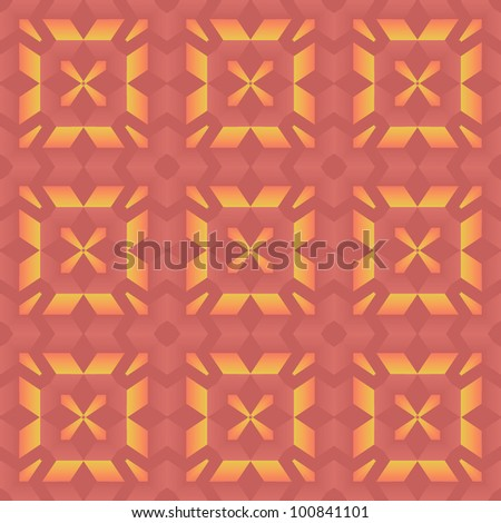 abstract ethnic vector seamless background. Vector illustration - stock vector