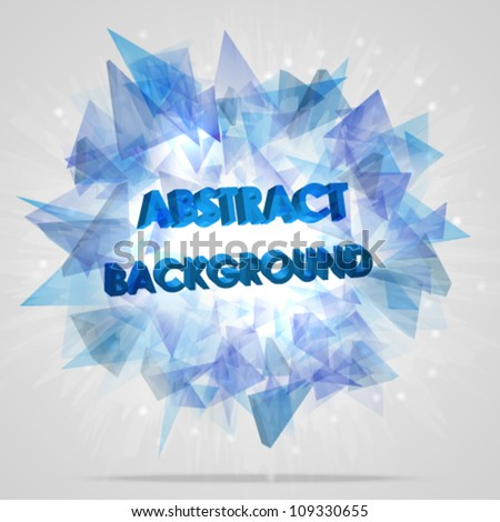 Abstract  explosion background. Vector illustration. - stock vector