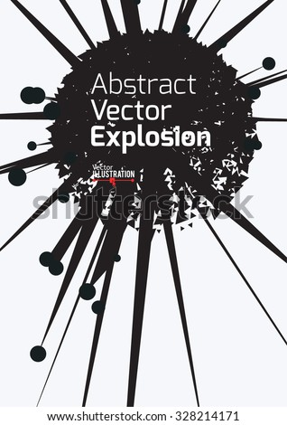 Abstract Explosion Design A4 A3 Format Stock Vector 328214201