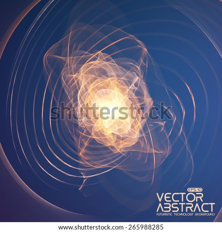 Abstract explosion vector mesh background. Futuristic technology style. Elegant background for business presentations. Flying debris. eps10 - stock vector