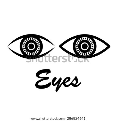 Abstract eyes. - stock vector