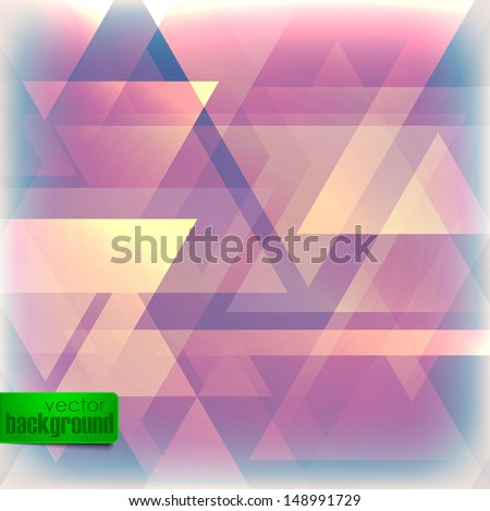 abstract faded background with triangles