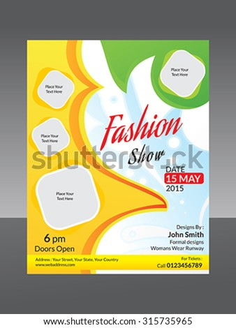 abstract fashion flyer template vector illustration - stock vector