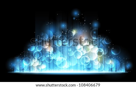 Abstract festive light background - stock vector