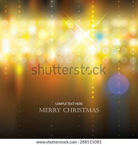Abstract festive lighting blurry background. - stock vector