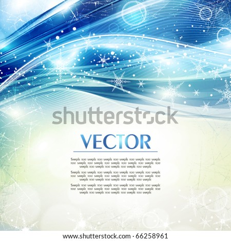 Abstract festive shiny greeting card in retro style. Vector