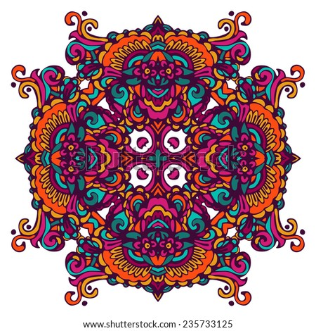 Abstract Festive vintage tribal ethnic geometric mandala background