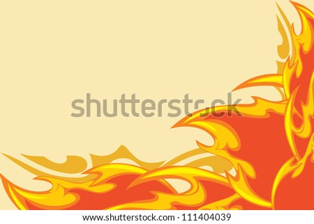 Abstract fiery background. Vector - stock vector