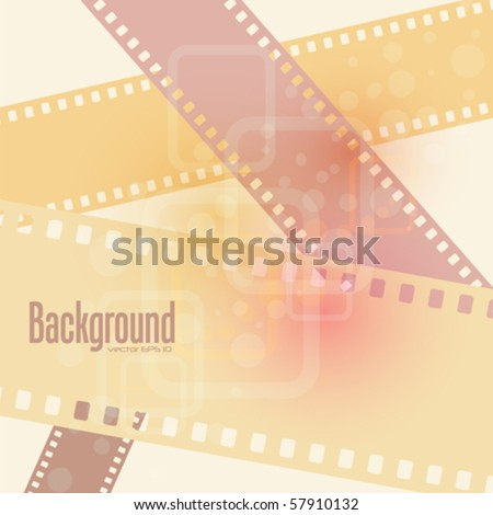 abstract film background , vector illustration - stock vector