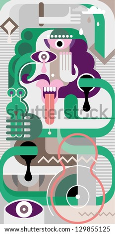 Abstract fine art vector illustration.