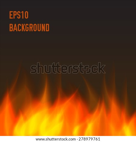 abstract fire background - stock vector