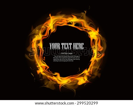abstract fire backgrounds vector with dark background