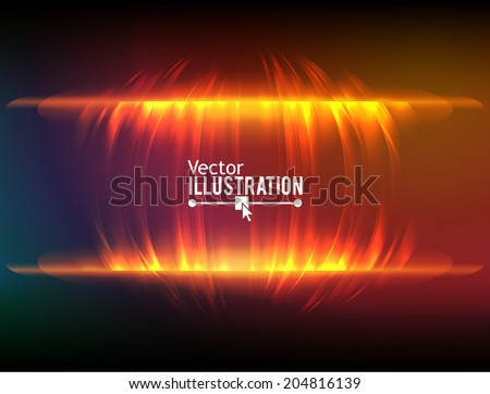 Abstract fire equalizer. Vector background. - stock vector