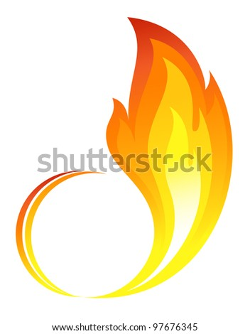 Abstract fire flames icon - stock vector