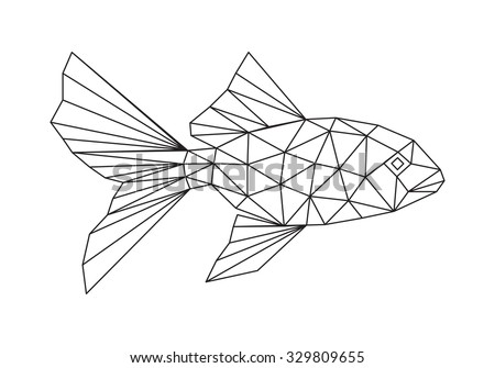 abstract fish - stock vector