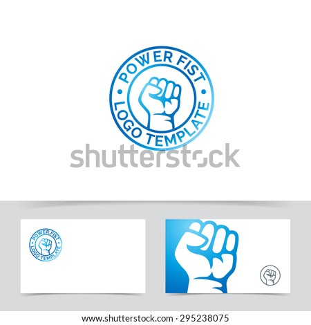 Abstract fist logo template. Vector freedom or protest concept illustration. - stock vector