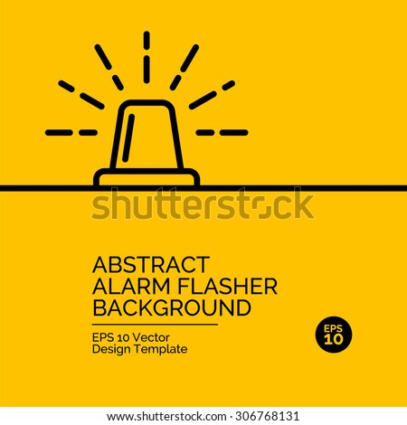 Abstract flat design concept with flasher illustration on yellow background. Vector collection - stock vector