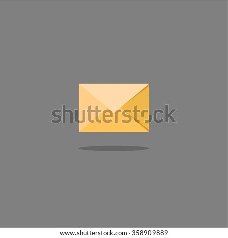 Abstract flat design vector mail and message color icon on a gray background - stock vector