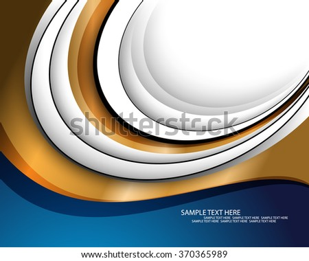 abstract flat layout material golden colored metallic background - stock vector