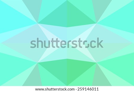 abstract flat mint - stock vector