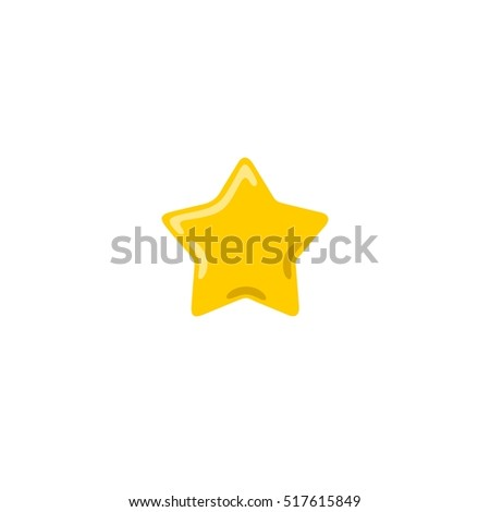 Abstract flat style yellow and golden vector star icon illustration