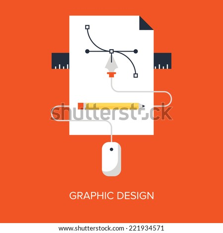 Abstract flat vector illustration of design and development concepts. Elements for mobile and web applications. - stock vector