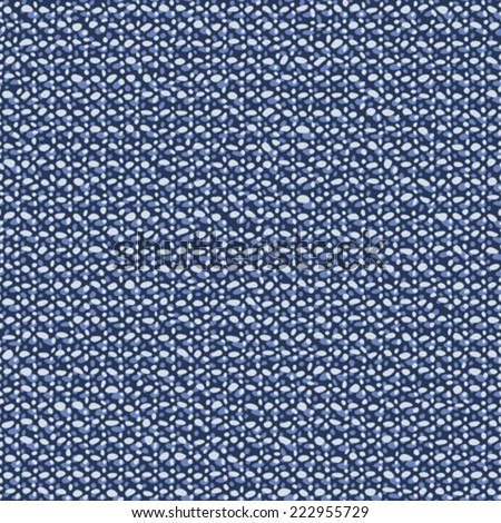 Abstract flecked textured chambray fabric background. Seamless pattern. Vector. - stock vector