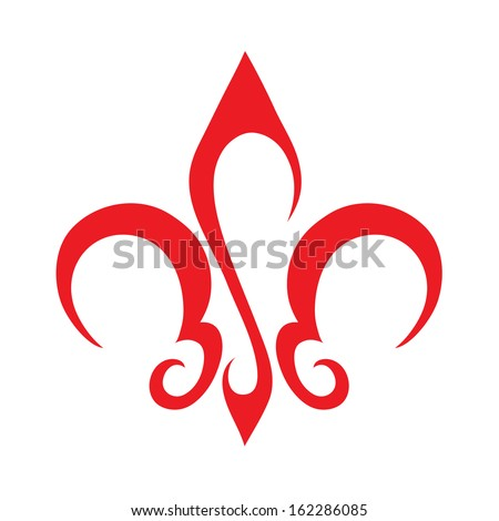 Abstract Fleur De Lis Icon - stock vector