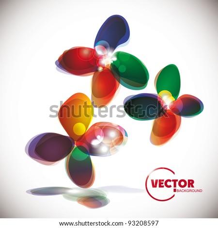 Abstract flora llight  background. - stock vector