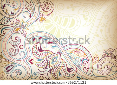 Abstract Floral Background - stock vector