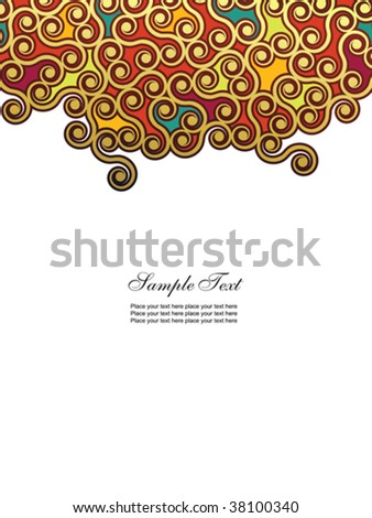 Abstract floral background. Easy to edit vector image. - stock vector
