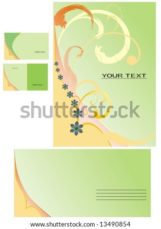 Abstract floral background for business card, letter - stock vector