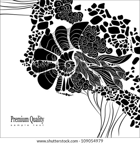 Abstract floral background for design. Design be used for banners, website layout vector - stock vector