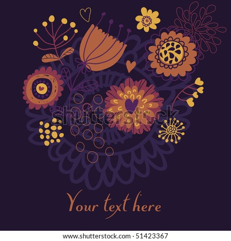 abstract floral background in violet