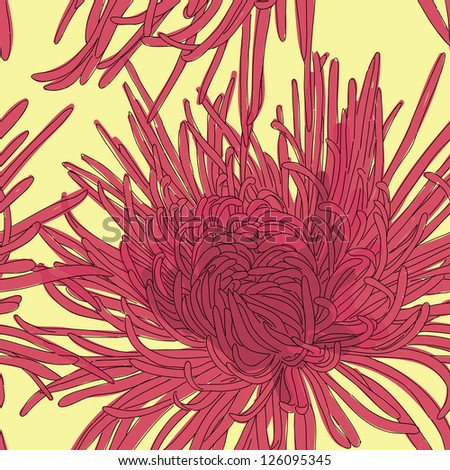 Abstract floral background. Seamless retro floral pattern - stock vector